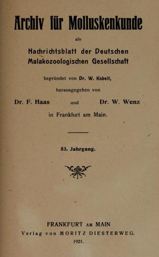 Archiv für Molluskenkunde