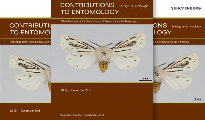 Contributions to Entomology - Beiträge zur Entomologie - Cover der Zeitschrift