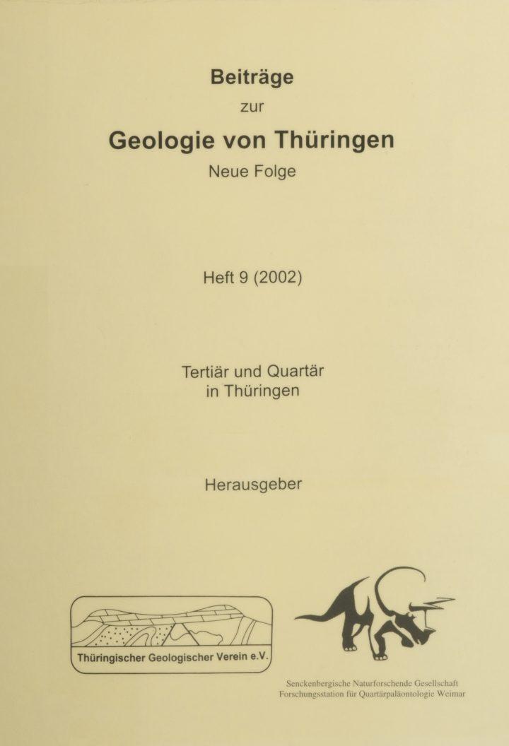 Cover Beiträge zur Geologie von Thüringen Neue Folge 9/2002