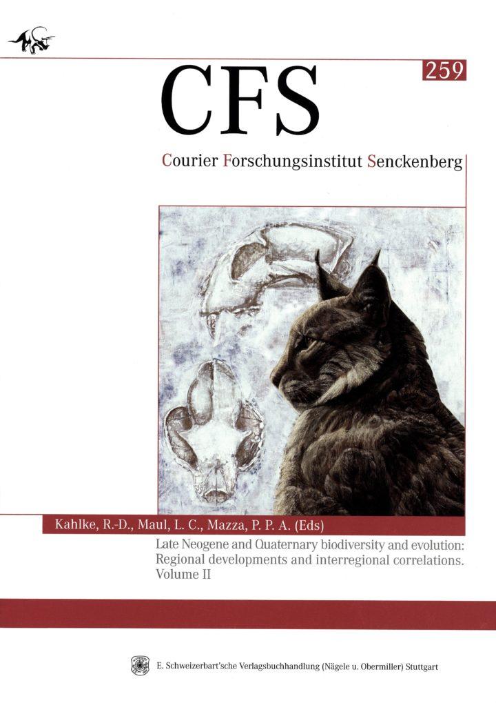 Cover Courier Forschungsinstitut Senckenberg 259