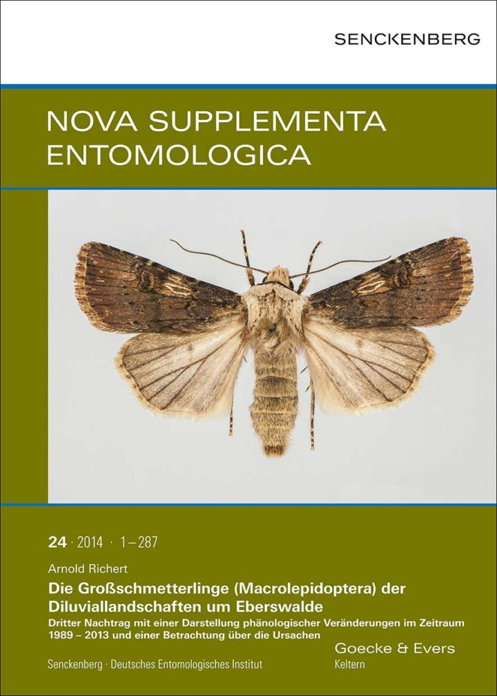 NSE - Nova Supplementa Entomologica, Cover, Bd. 24, 2014
