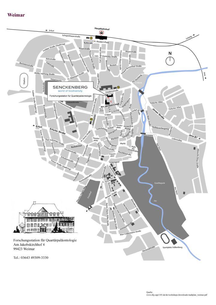 Stadtplan Weimar