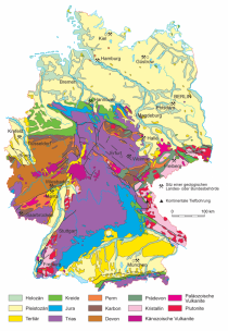 Geologische Karte von Deutschland