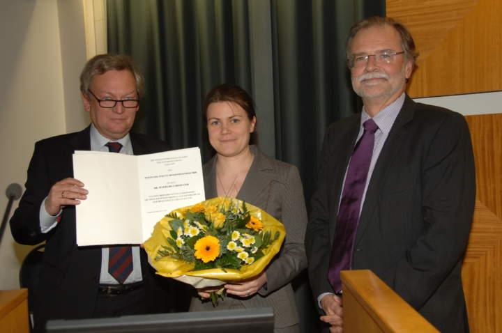 Verleihung des Wolfgang-Strutz-Promotionspreises 2010