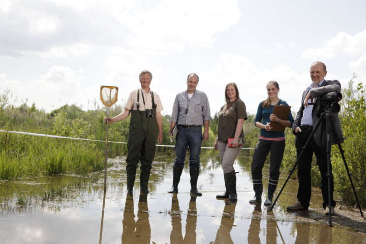 Biotopkartierung: Arbeit im Gelände