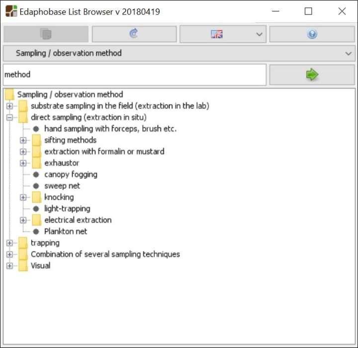 Bodenzoologie Edaphobase Browser