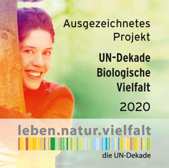 Logo UN-Dekade Biol. Vielfalt : Ausgezeichnetes Projekt