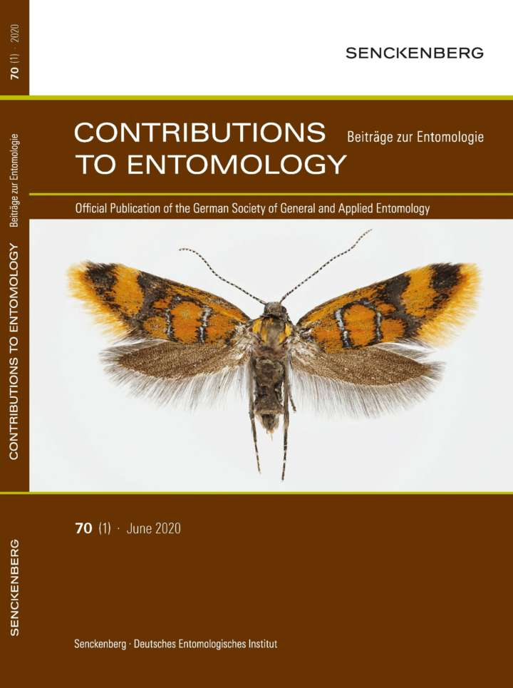 SDEI Contributions to Entomology BE 2020 Heft 1 front cover.