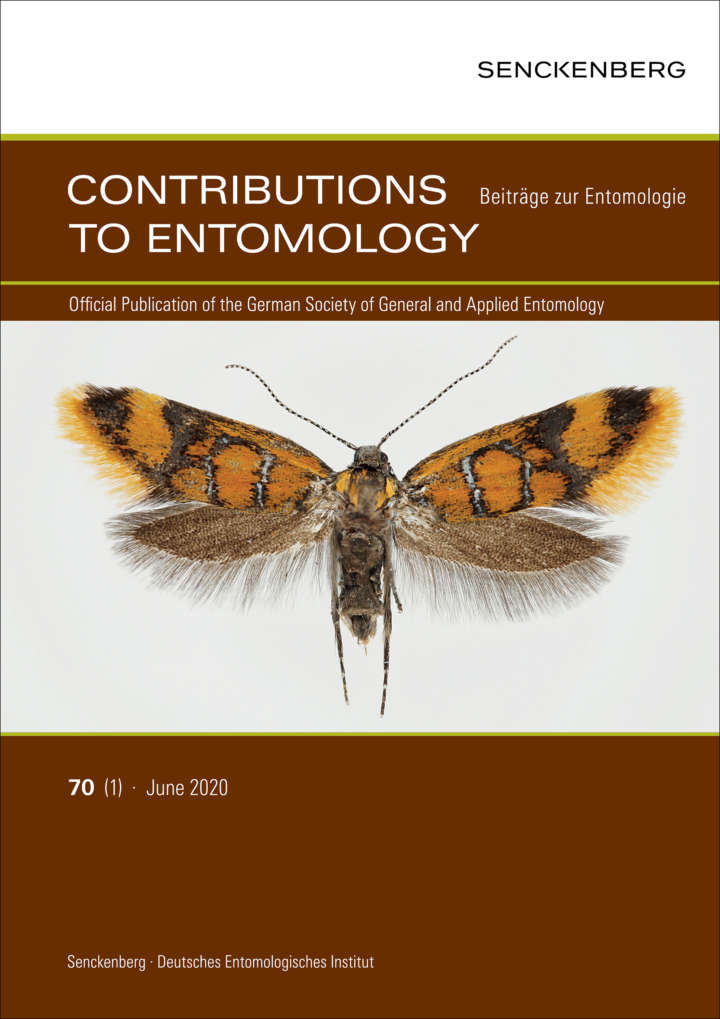 Contributions to Entomology - Beiträge zur Entomologie Vol. 70 cover.