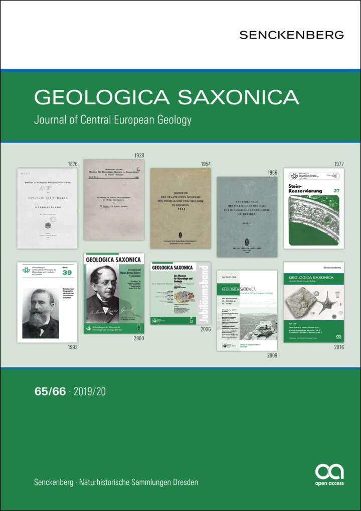 Cover Geologica Saxonica 65/66 - 2019/20, Open Access, Senckenberg Gesellschaft für Naturforschung, Layout Markward Herbert Fischer
