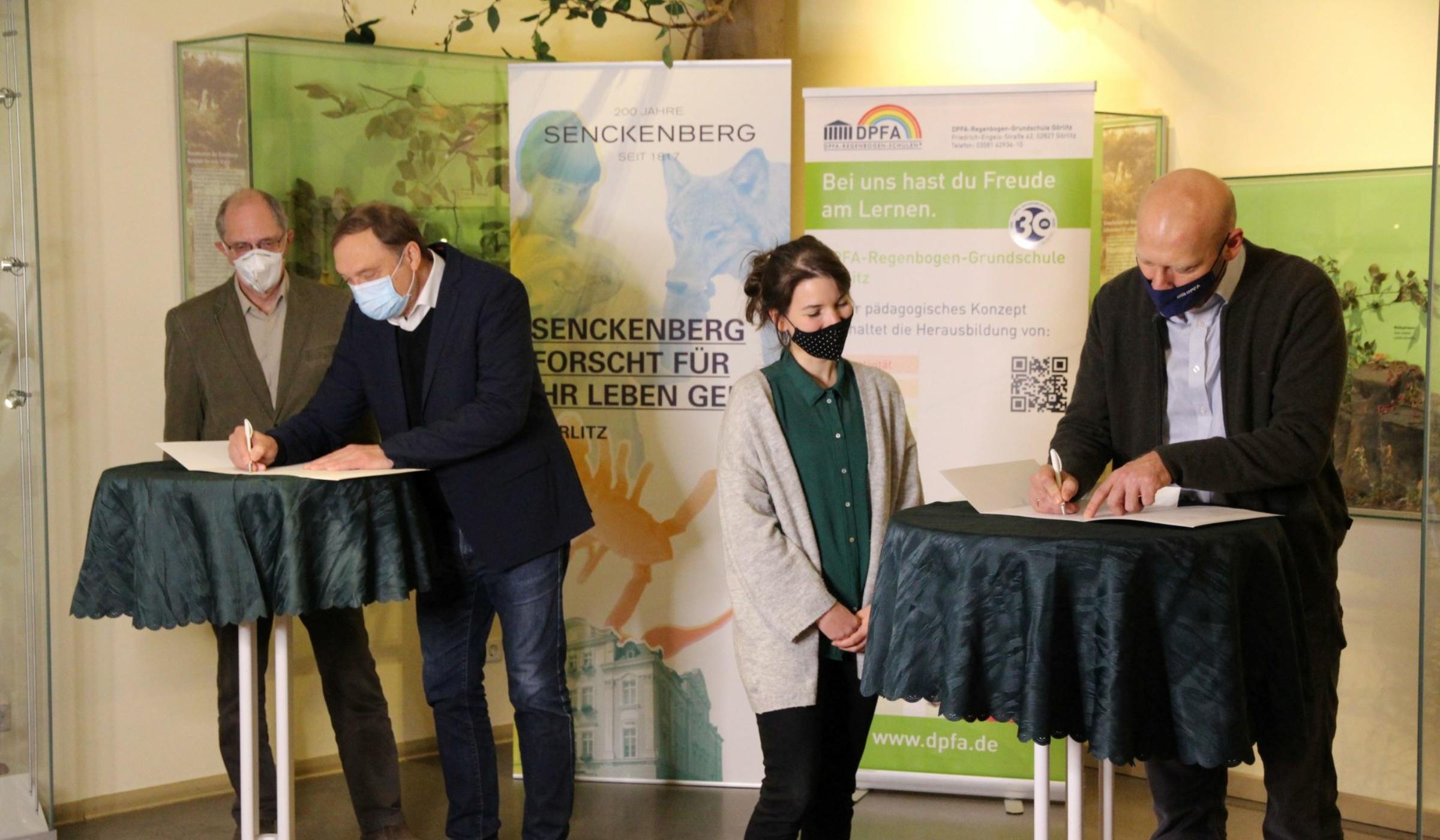 Unterzeichnung Kooperationsvertrag mit DPFA-Regenbogenschule