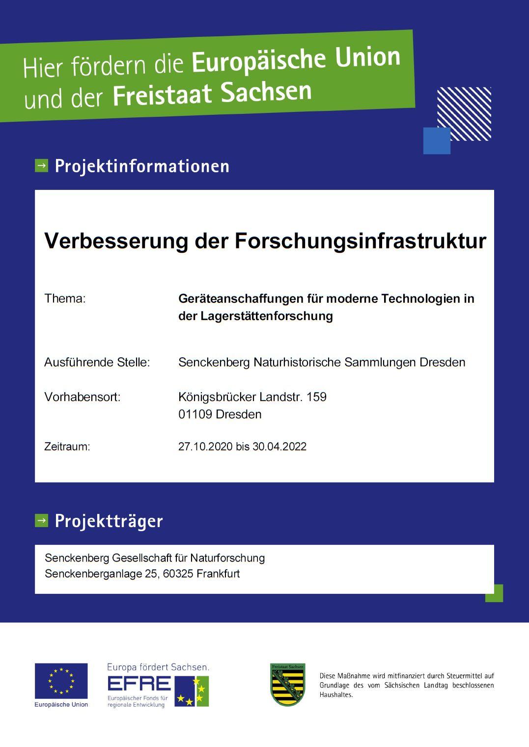 EFRE & Freistaat Sachsen fördern Senckenberg Dresden