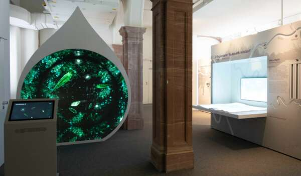 Raumansicht Ausstellung Flüsse