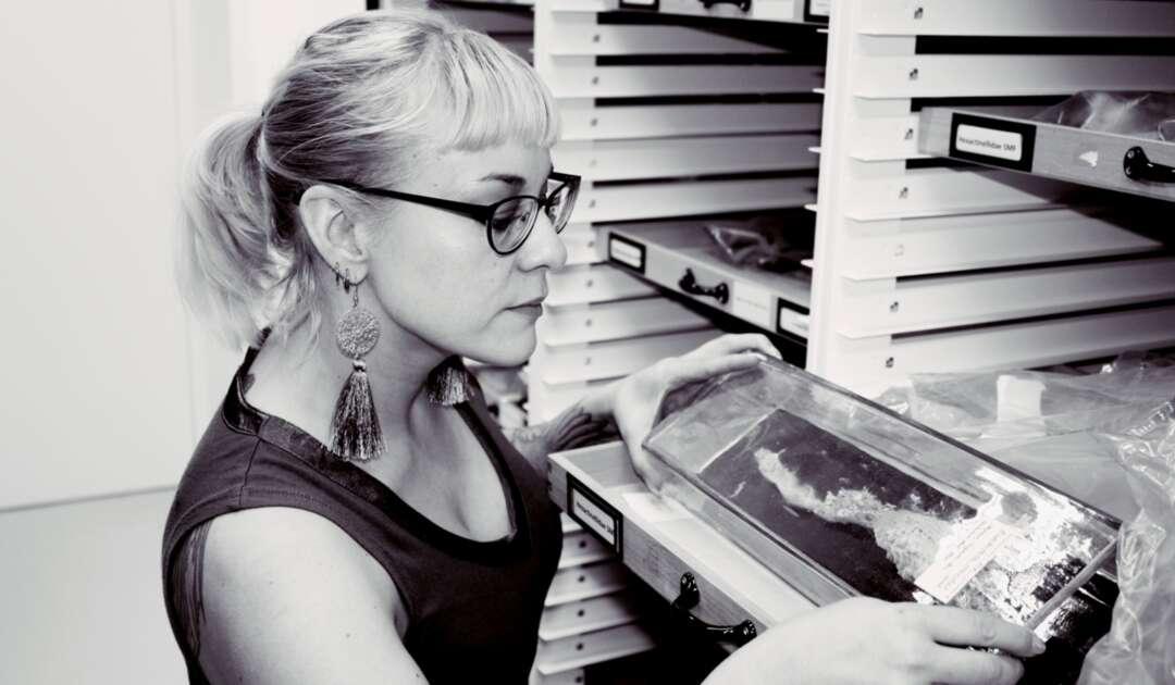 Saskia Dimter in in Schwammsammlung